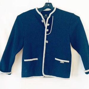Giesswein Austrian wool cotton blend jacket Sz 12